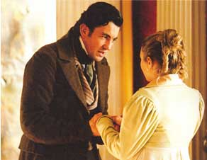 Tim Dutton (Mr Leeford) and Sophia Myles (Agnes Fleming) in Oliver Twist